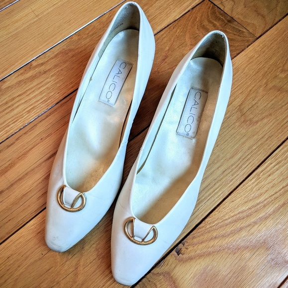 3931ad6aa1 Vintage Shoes | Leather Calico Made In Brazil Pumps | Poshmark